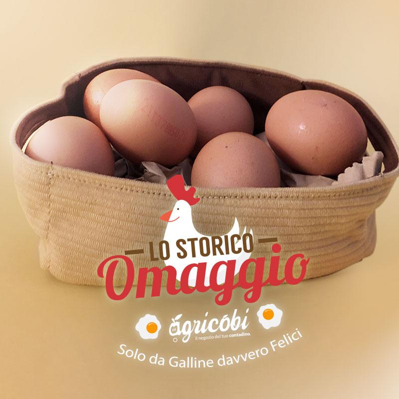 Uova in omaggio dalle nostre galline felici